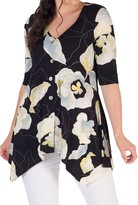 Chesca Floral Jersey Top, Multi