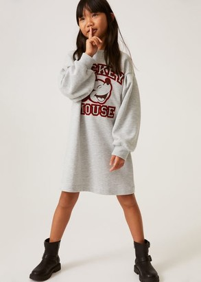 MANGO Mickey sweatshirt dress light heather grey - 5 - Kids