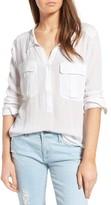 AG Jeans Women's Nevada Cotton Henley Shirt