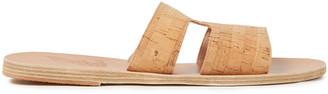 Ancient Greek Sandals Apteros Cutout Cork Slides