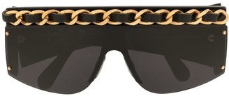 Chanel Pre Owned Chain Embellished Sunglasses
