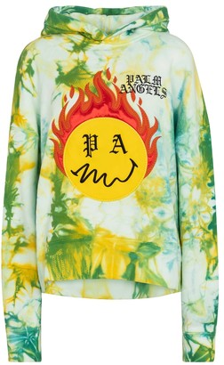 Palm Angels Tie-dye cotton hoodie