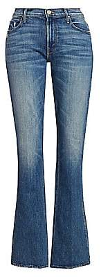 Mother Women's Runaway High-Rise Distressed Bootcut Jeans