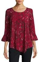 Rafaella Asymmetrical Bell Sleeve Top
