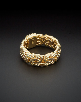 Italian Gold 14K Byzantine Band Ring