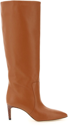Paris Texas NAPPA KNEE BOOTS 38 Brown, Beige Leather