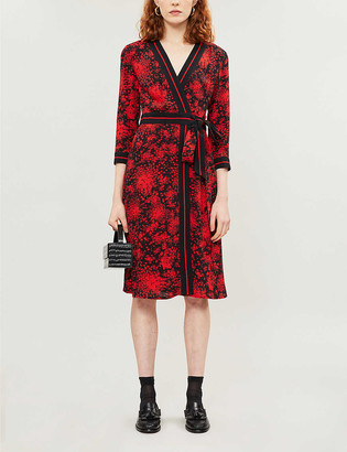 Claudie Pierlot Resise crepe midi-dress