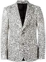 Alexander McQueen leopard print blazer