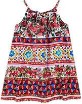 Dolce & Gabbana Mambo-Print Cotton Poplin Dress