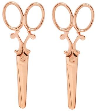 Mocola Scissor Earrings In Rose Gold