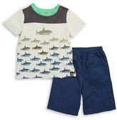 Charlie Rocket Baby Boys Shark Tee and Shorts Set
