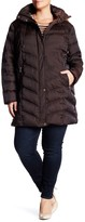 Kenneth Cole New York Faux Fur Trim Quilted Coat (Plus Size)