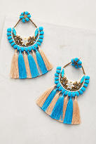 Deepa Pom & Tassel Drop Earrings
