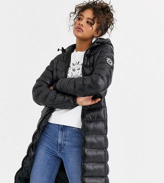 Brave Soul Tall everett long padded coat-Black