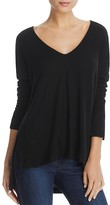 Three Dots Ribbed High Low Sweater