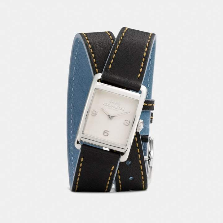 Coach Renwick Double Wrap Watch, 25Mm X 35Mm