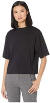 Vince Wide Sleeve Crop T-Shirt (Black) Women's Clothing