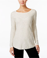Charter Club Petite Damask Jacquard Sweater, Only at Macy's