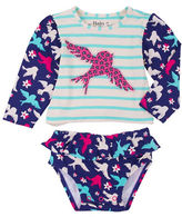 Hatley Flying Sparrows Two-Piece Rash Guard Top and Bottoms Set