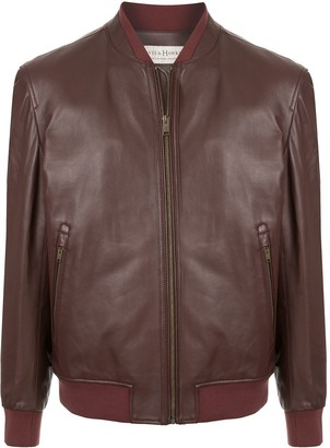 Gieves & Hawkes leather bomber jacket