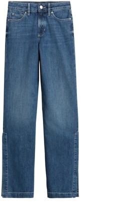 Banana Republic High-Rise Wide-Leg Jean with Split Hem