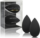 Aesthetica Mini Beauty Sponge Blender 2 Pack - Perfect for Small Areas, Around Eyes, Lips and Brows - Latex Free