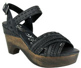 Naughty Monkey Calla Wooden Wedge Leather Sandals