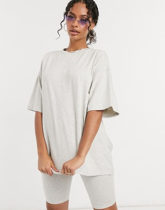 The Couture Club signature oversized tee in gray marl