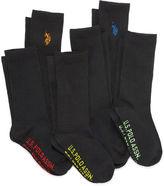USPA U.S. Polo Assn. Assorted 6-pk. Crew Socks - Boys