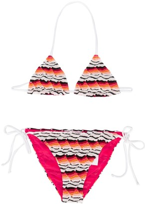 Missoni Kids Multicolour Patterned Bikini