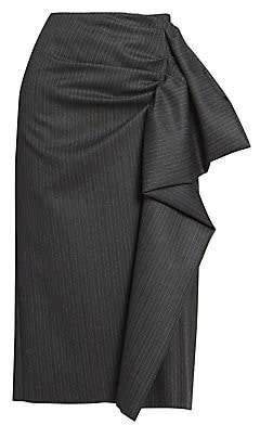 Dries Van Noten Women's Wool Drape Pencil Skirt