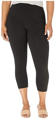 Lysse Plus Size Cropped Cotton Leggings