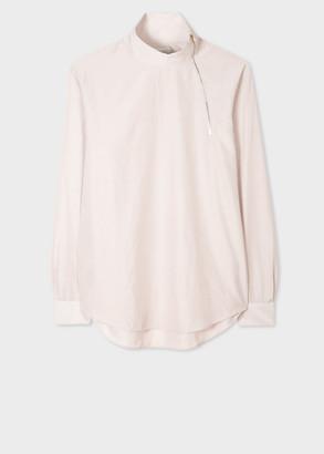 Paul Smith Men's Ecru Smock Shirt With Neck Zip Detail