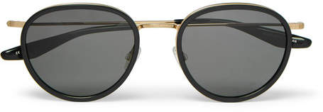 Barton Perreira Corso 52 Round-Frame Acetate And Gold-Tone Titanium Sunglasses