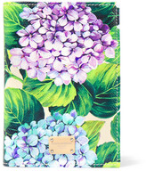 Dolce & Gabbana Floral-print Textured-leather Passport Cover - Green
