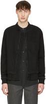 Naked & Famous Denim Black Denim Bomber Jacket
