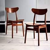 west elm Classic Café Dining Chair - Walnut