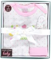 "Mon Cheri Baby Baby Girls' ""To the Moon"" Nightgown & Cap Gift Set"