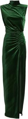 Ronny Kobo Billie Ruched Velvet Gown