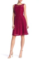 Taylor Corded Lace Fit and Flare Dress
