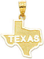 Macy's 14k Gold Charm, State of Texas Charm