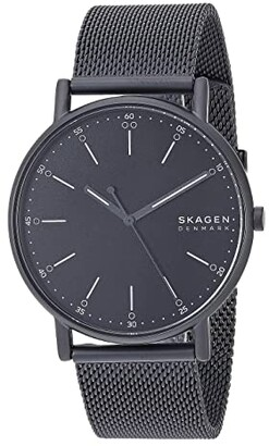 Skagen Signatur Three-Hand Men's Watch (SKW6355 Silver Brown Leather) Watches