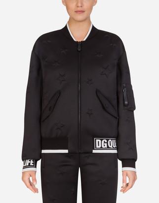 Dolce & Gabbana Millennials Star Scuba Fabric Coat