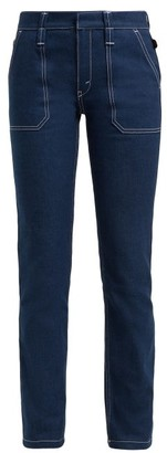 Chloé Contrast-stitch Jeans - Womens - Dark Blue