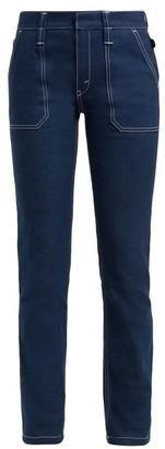 Chloé Contrast-stitch Jeans - Dark Blue