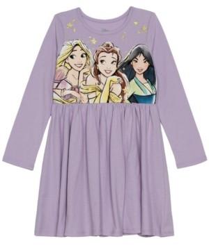 Disney Little Girls Princess Holiday Long Sleeve Dress
