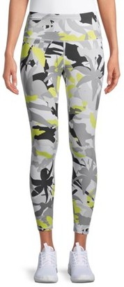 Layer 8 Women's Active 7/8 Combo Printed Leggings