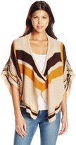 Derek Heart Junior's Jacquard Poncho Sweater