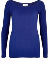 River Island Womens Blue scoop neck top