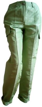 Chanel Green Silk Trousers
